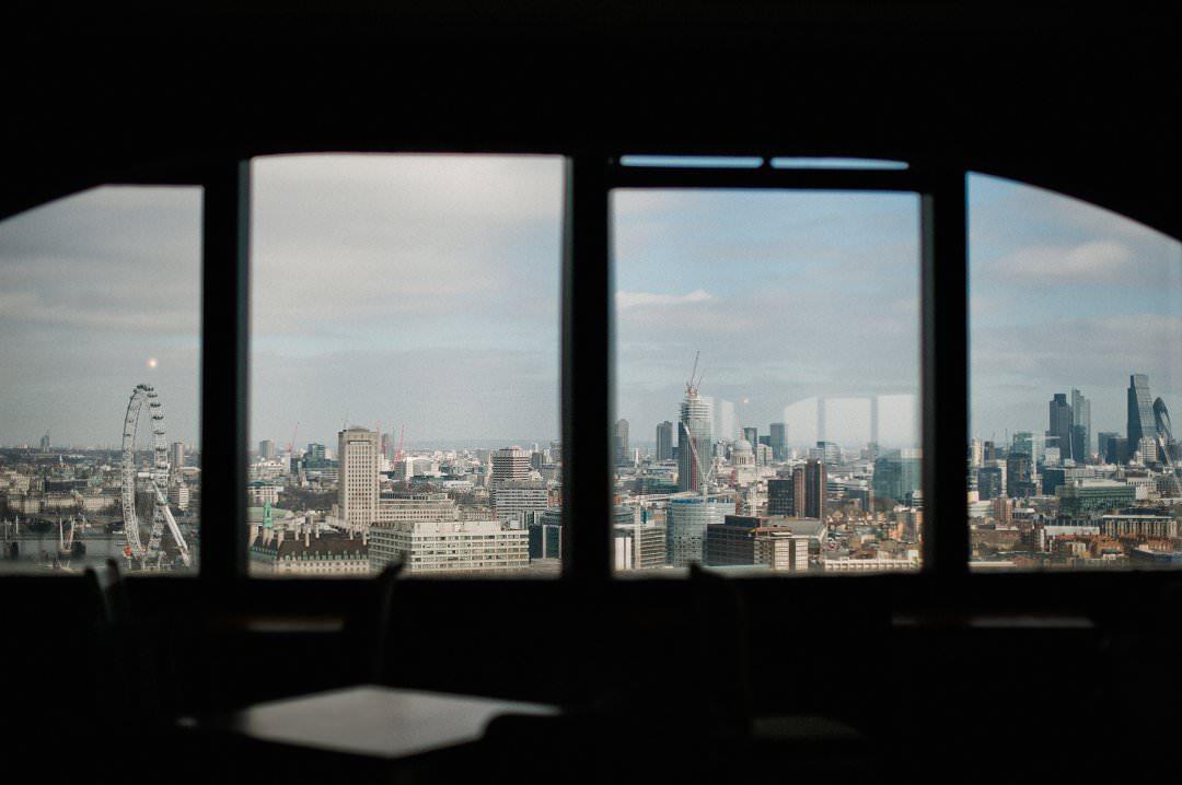 top ten London wedding vneues with views Skyloft at Millbank Tower