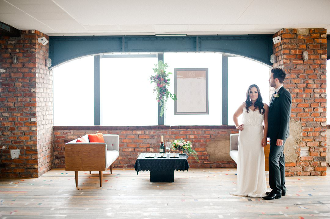 top ten London wedding vneues with views couple at the Skyloft Millbank