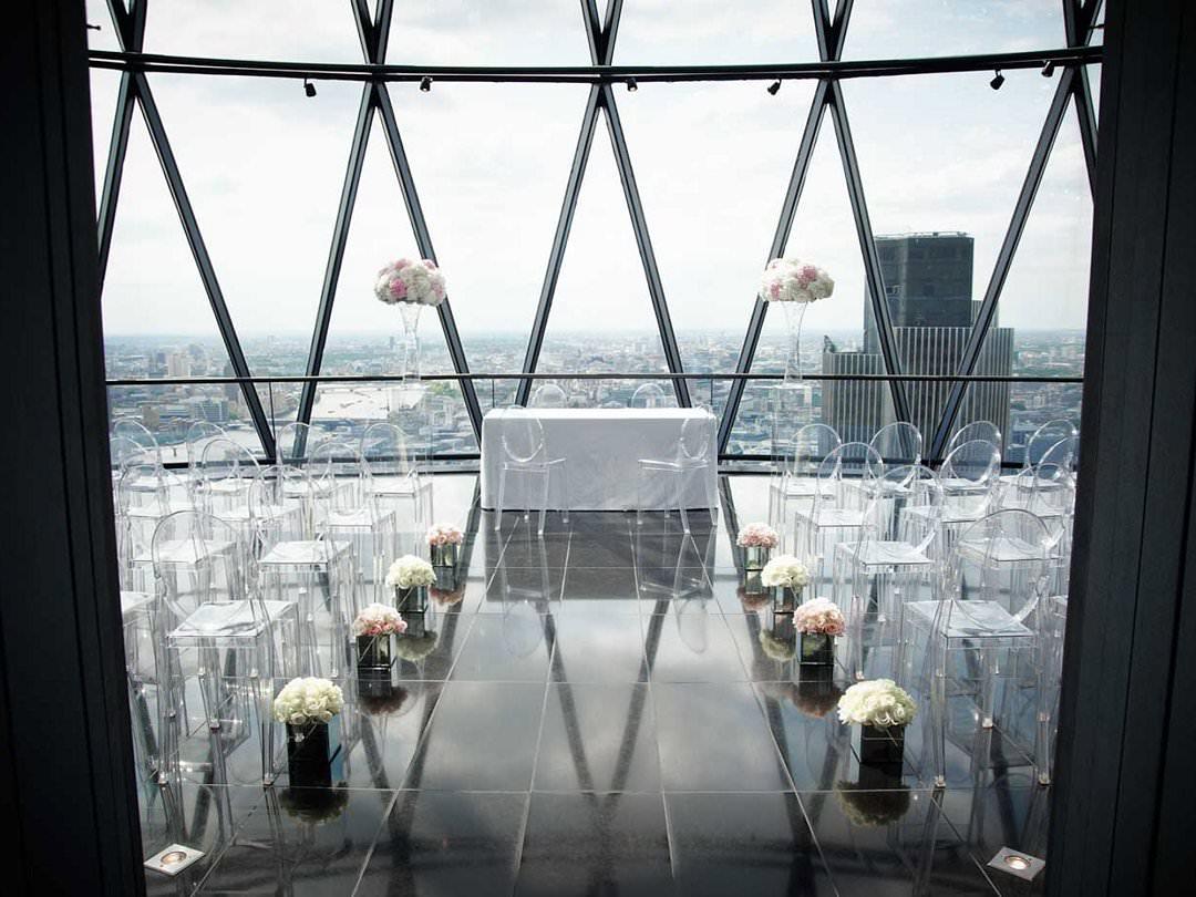 top ten London wedding vneues with views The Guerkin