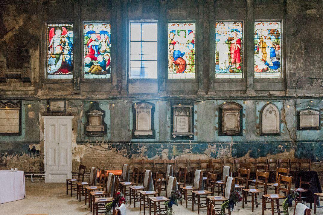 wedding ceremony at the Asylum Chapel London
