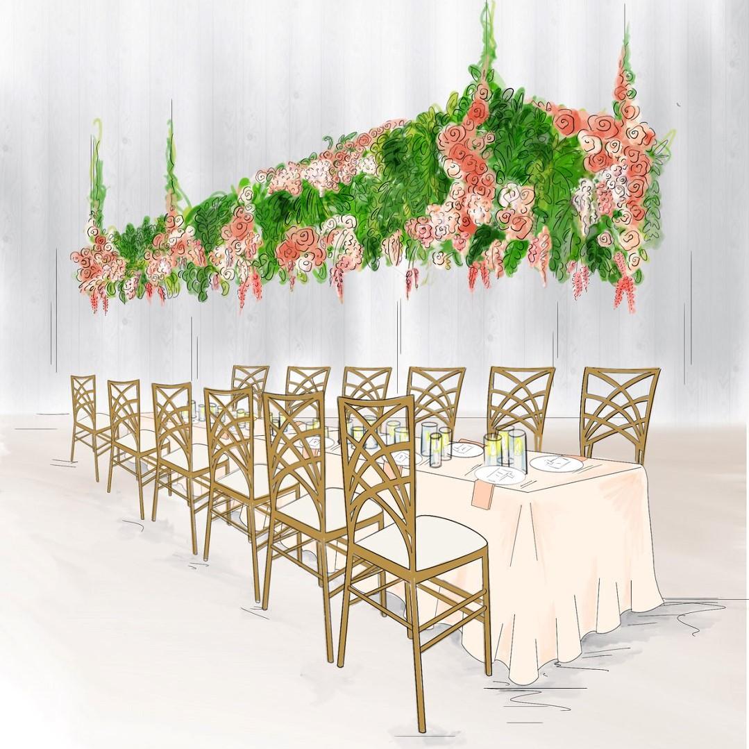 5 Hanging Elevated Floral Wedding Installation Ideas Always Andri