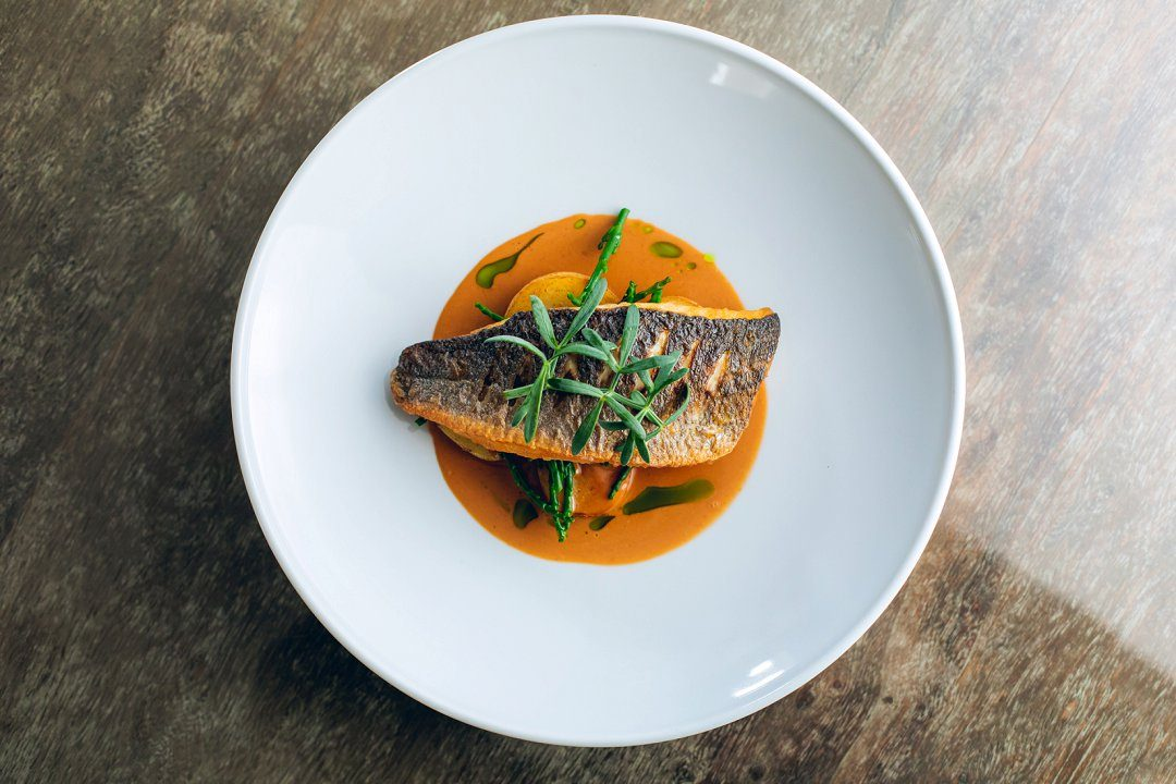 distinctive wedding catering fish main course for a wedding