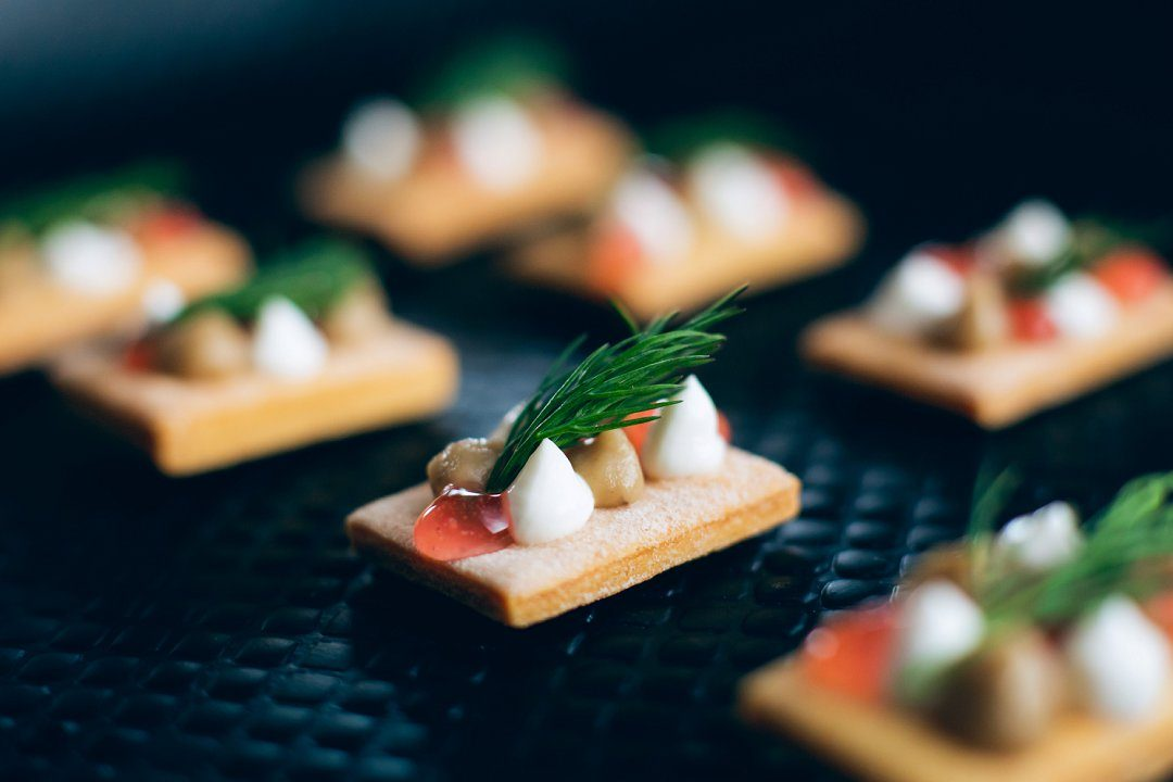 wedding canapes Caper & Berry catering