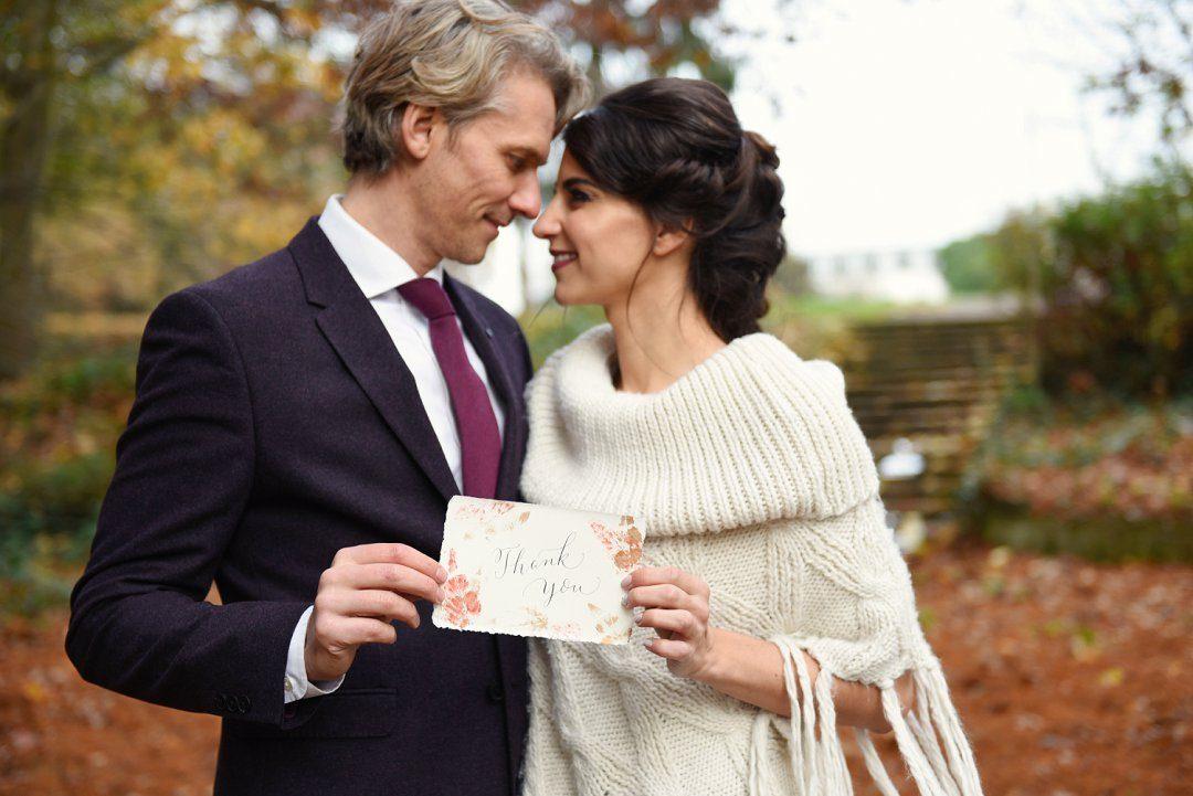 auutmn wedding styling bride in wool poncho