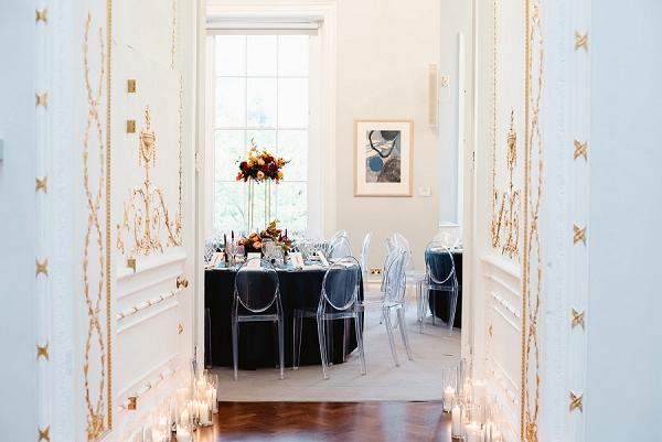 wedding reception tables for autumn wedding
