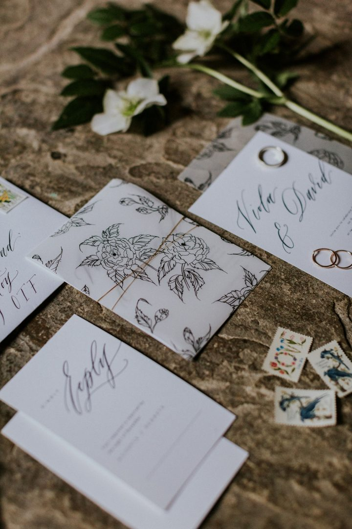 micro wedding calligraphy invitastion suite
