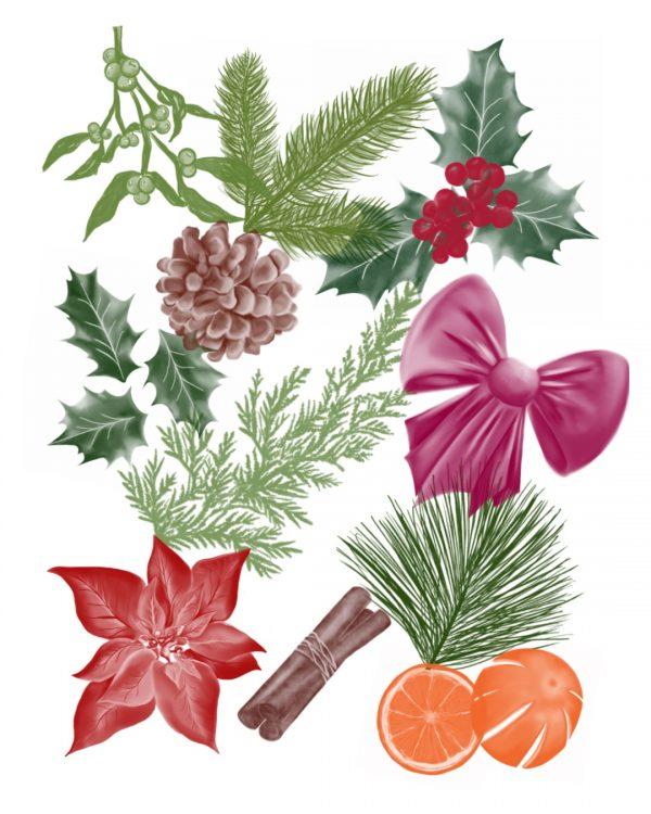 Procreate Brushes Winter Foliage
